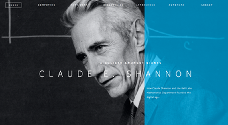Photo of Claude Shannon Web Exhibit